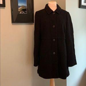 Lands End Boucle Knit Coat Size 10